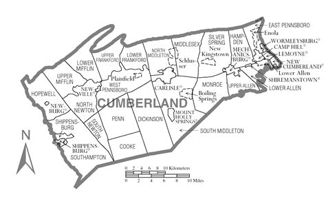 the history of cumberland county pa file map of cumberland county pennsylvania png