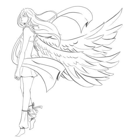 female angel lineart by xxsadako chanxx on deviantart