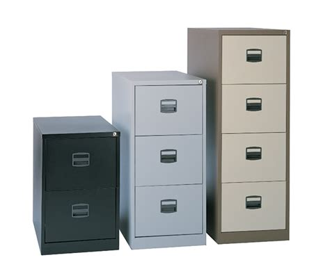 bisley 3 drawer metal filing cabinet