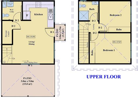 floor plan flat beacon hill two storey flat project sydney nsw