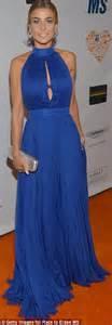 Electric Blue Mini Dress Import Bekas alessandra ambrosio dresses heavenly figure in black