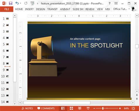 animated spotlight powerpoint template slidehunter com