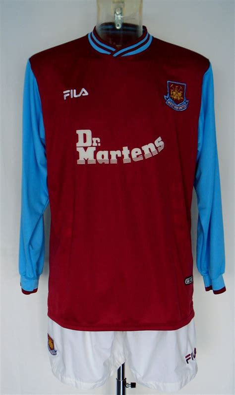 Dr Martens West Ham United Tees west ham united home football shirt 2001 2003 sponsored
