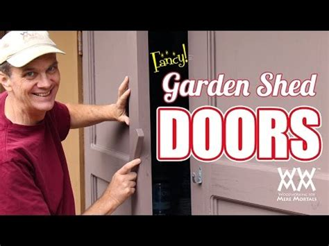 garden shed doors    youtube