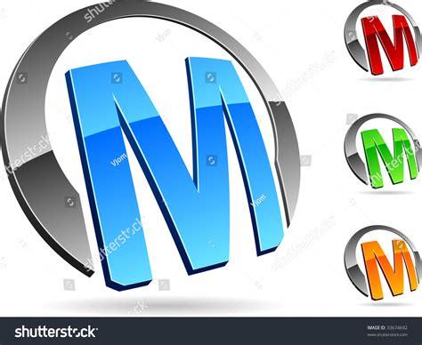 "Letter ""M"" 3d Vector Icons Such Logos. - 33674692 ... M 3d Logo"