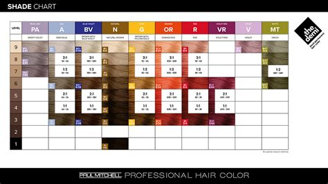 paul mitchell hair color chart the demi from paul mitchell 174