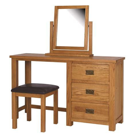 bedroom furniture dressing tables rustic saxon solid oak wooden dressing table bedroom