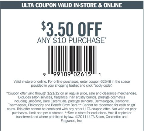 printable ulta coupons 3 50 off 10 ulta coupon 3 5 off 10 purchases boncherry deals