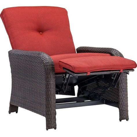 Patio Recliners Chairs Furniture Hanover Strathmere All Weather Wicker Reclining Patio Lounge Chair Patio Seating