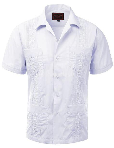 Wedding Shirt by Guayabera Mens Button Up Sleeve Wedding