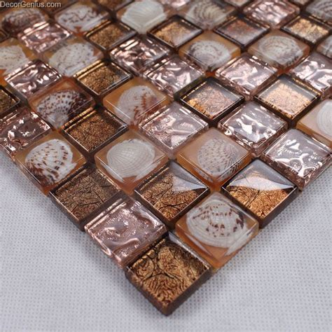 Resin Bathroom Floor by Brown 3d Shell Resin Mosaic Tile Dgsm005 Bathroom Floor