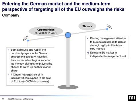 Mba Market Entry by Xiaomi Germany Market Entry Marketing Strategy Mba
