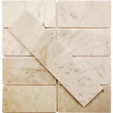 splashback tile crema marfil 3 in x 6 in x 10 mm marble floor and wall tile crema marfil 3x6