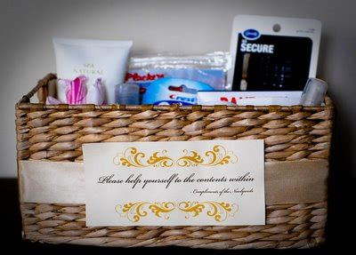 what to put in wedding bathroom basket show me your baskets weddingbee