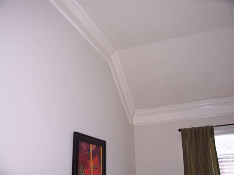 sloped ceiling crown molding with cathedral ceiling joy studio design