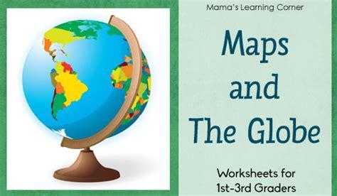 maps   globe worksheet packet  st  graders
