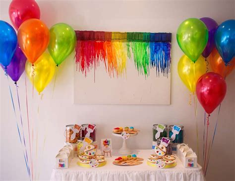 art themed events art party birthday quot bellezza interiors kids decorating