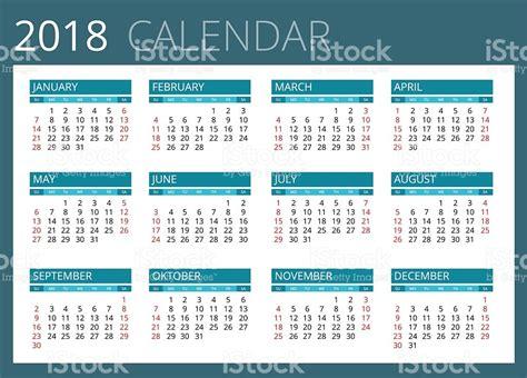 Honduras Calend 2018 Calendario De 2018 Illustracion Libre De Derechos