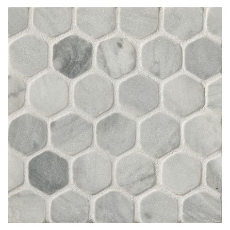 mosaic hexagon pattern hexagon 1 quot mosaic tile tumbled bardiglio marble