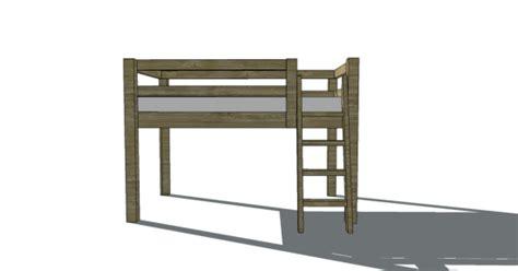 loft bed woodworking plans bed plans diy blueprints