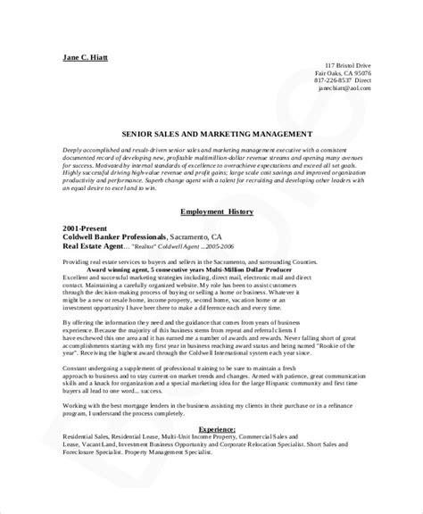 senior resume sles marketing resume exle 10 sles in word pdf