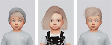 sims 4 hairs kalewa a toddlers hair pack my sims 4 blog hair retexture pack for toddlers by kalewa