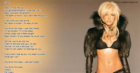lyrics wallpapers britney spears crazy