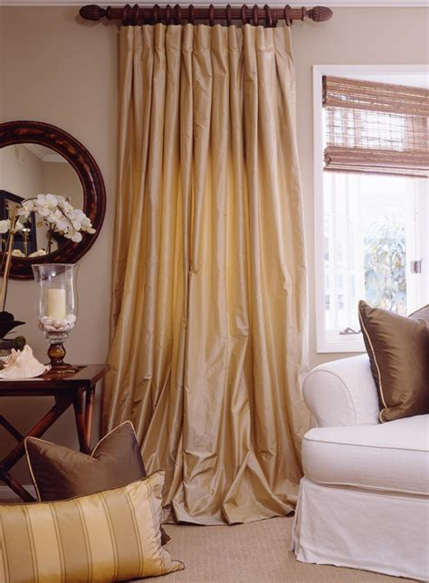 dupioni drapes drapestyle the custom drapes house and garden called
