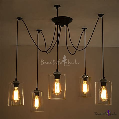 Buy Five Light Swag Multi Pendant Mirrored Shade At Swag Pendant Lighting