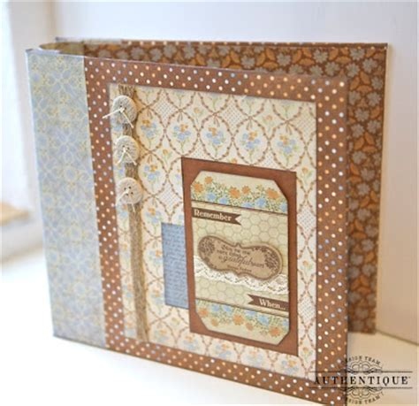 How To Make Your Own Scrapbook Paper - authentique paper create your own 8x8 scrapbook album