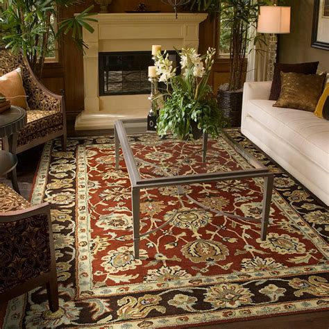 Traditional Area Rugs For Living Room Living Rooms Traditional Living Room Kansas City