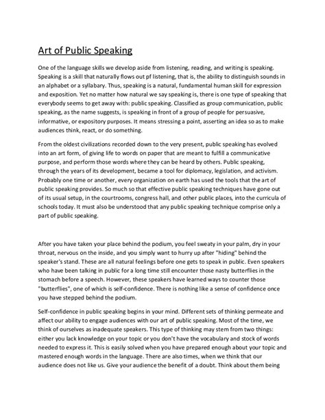 Speech Essays by Exle Of Speech Essay Nardellidesign
