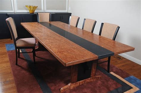 granite dining table bubinga with granite dining table