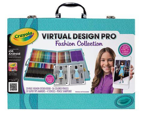 virtual decorator amazon com crayola virtual design pro fashion set toys