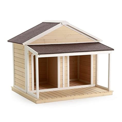 dog house roof antique large dog house w roof solid wood penthouse kennels crates duplex 51x43x43 w