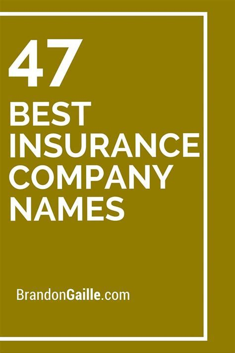 47 Best Insurance Company Names   Insurance companies