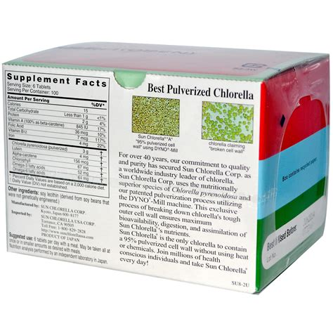 Sun Chlorella, Sun Chlorella A, 500 mg, 600 Tablets   iHerb.com