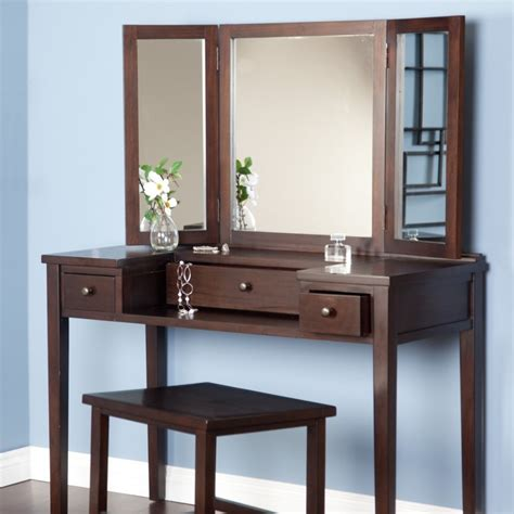 Simple Vanity Table by Bedroom Simple Vanity Dressing Table With Brown Theme