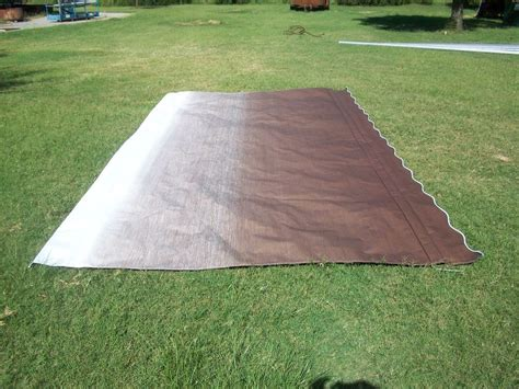 rv awnings replacement fabric rv awning replacement fabric a e dometic brown fade 19 ft
