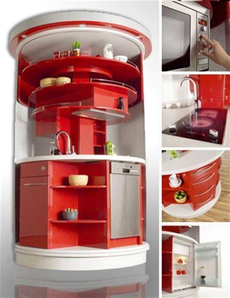 revolving circle compact kitchen idesignarch interior full circle compact all in one kitchen station design