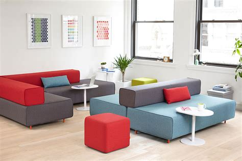 block party lounge bench office furniture poppin flexible