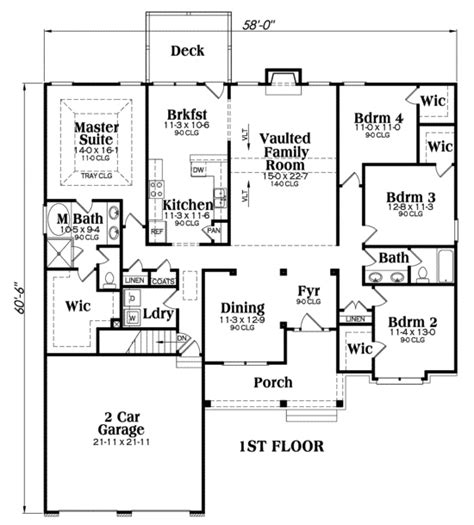 glenridge floor plans craftsman home with 4 bdrms 2221 sq ft floor plan 104 1056