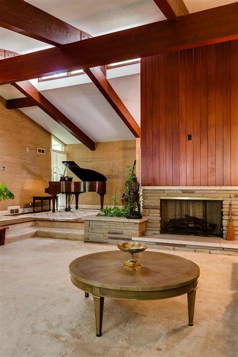 mid century modern fireplace stunning mid century modern toronto time capsule house by