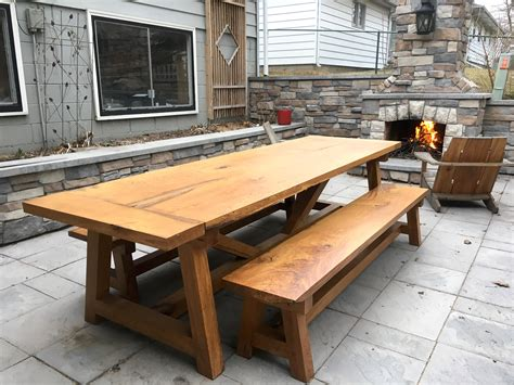 farm table benches gaming dining table the wood whisperer guild
