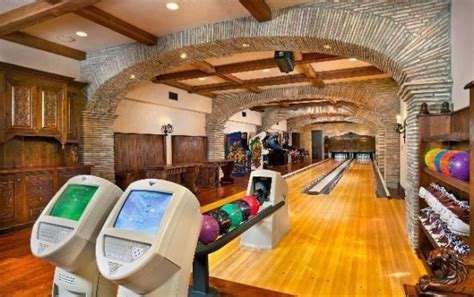 Living Room Lanes Bowling Set by Kingpin Alley Million Dollar Homes With Bowling Lanes