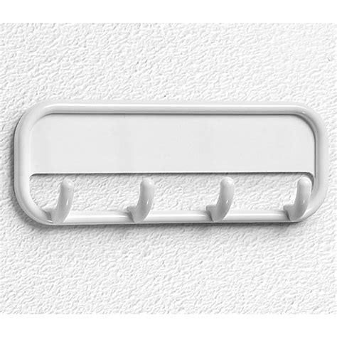 adhesive wall hooks adhesive four hook coat rack white in wall hooks