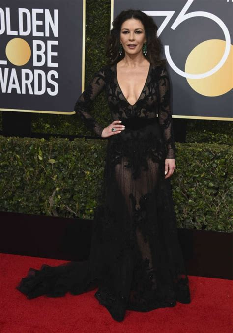 Catwalk To Carpet Catherine Zeta Jones by Catherine Zetajones On Golden Globe Awards 2018 Carpet