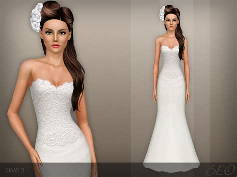 sims 3 cc wedding hair beo s wedding dress 42