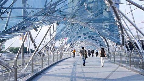 High Tech Architektur by High Tech Architecture Helix Bridge In Singapore By Cox