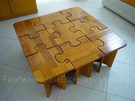 diy puzzle coffee side tables    fun ideas